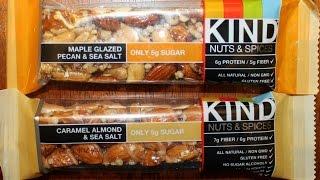 Kind Nuts & Spices Bar Review: Maple Glazed Pecan & Sea Salt And Caramel Almond & Sea Salt