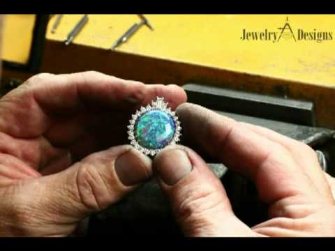How to hand make a rare black opal pendant by jewelry designs in how to hand make a rare black opal pendant by jewelry designs in danbury ct youtube aloadofball Images