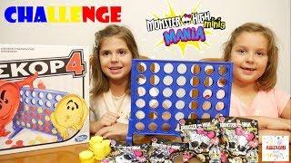 ΣΚΟΡ 4️⃣ CHALLENGE 👉MONSTER HIGH MINIS 💀 παιχνίδια βίντεο για παιδιά greek ελληνικά