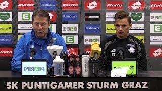 SK Sturm: Mediabriefing vor FC Red Bull Salzburg (28. Runde 2016/17)