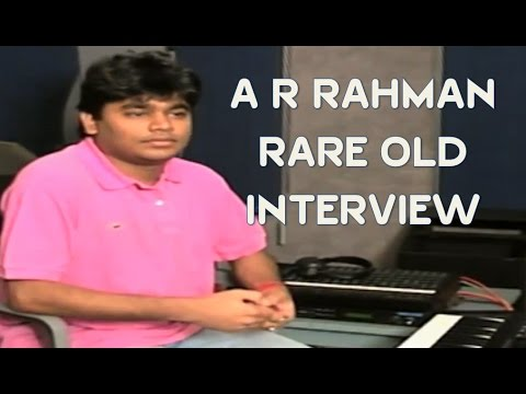 A R Rahman's Old Rare Interview | Watch till the end for Rahman's Cute Whistle