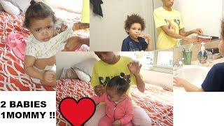 SINGLE MOMMY GETTING MY 2 BABIES READY FOR THE DAY! | SHAREESLOVE