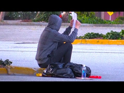 Homeless Man Does Unbelievable Act Social Experiment