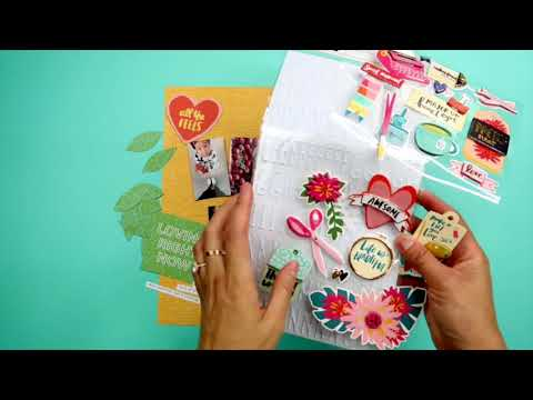 Scrapbook With Me | Hustle & Heart Layout with Sticker Prints