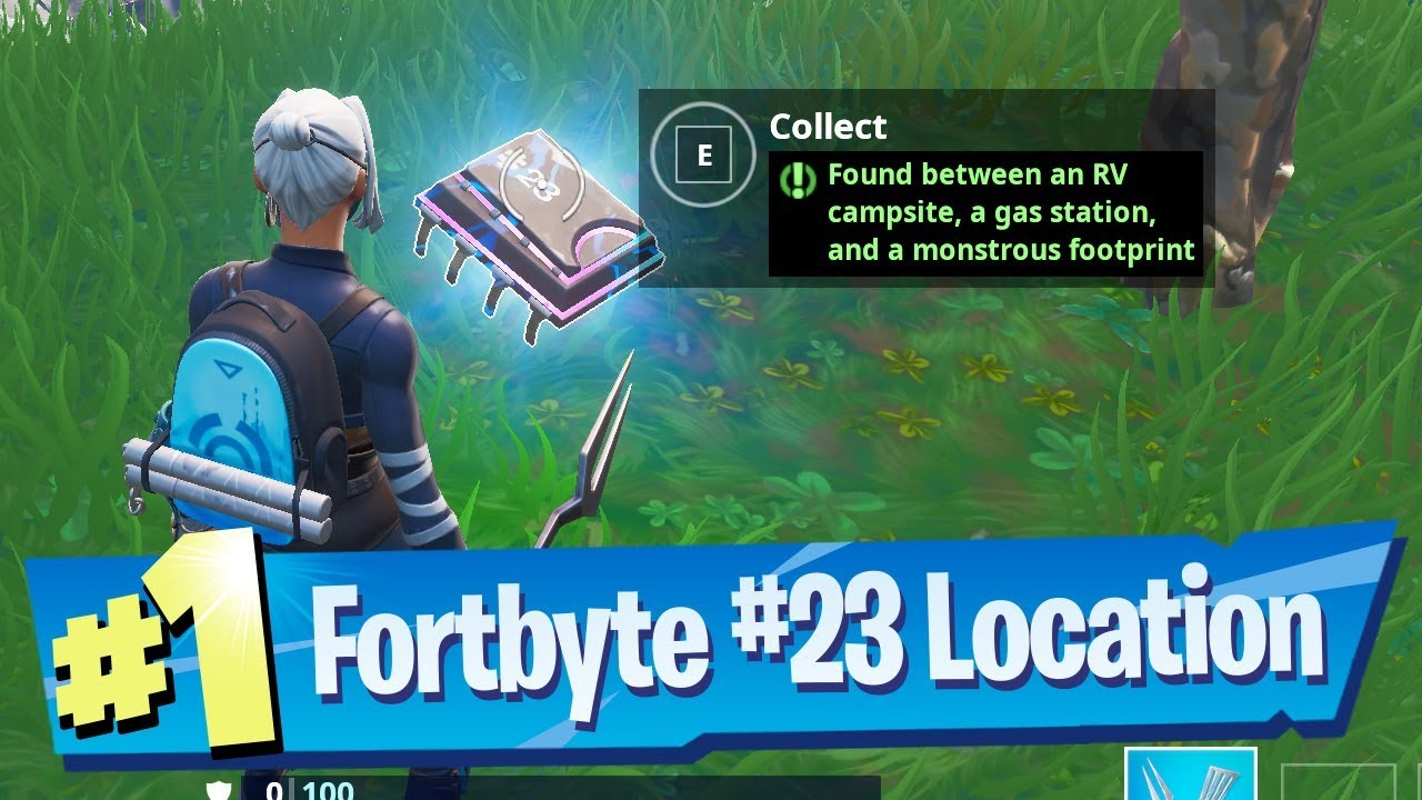 'Fortnite' Fortbyte #23 Location - Found Between an RV Campsite, a Gas Station and Monstrous Footprint