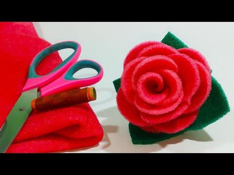 फोम का गुलाब बनाने का सरल तरीका /Happy Rose Day/gulab Ka Fool Banane Ka Tarika /How To Make Rose