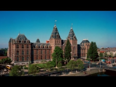 Documentary Rijksmuseum (State Museum) Amsterdam HD Rembrandt van Rijn, Night Watch, Stock Broadcast