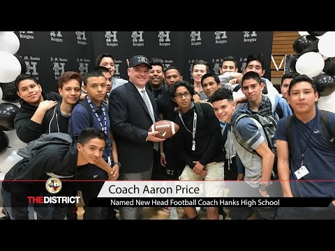 Aaron Price Named New Hanks H.S. Head Football Coach!