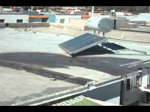 Efecto de heladas en calentadores solares