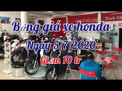 Báo giá xe HONDA cuối tuần ngày 5/7/2020 mới nhất || ducanh1005