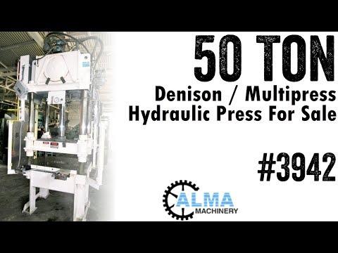 Used 50 Ton Hydraulic Press • 4 Column Press / 4 Post