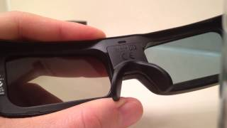 How to access and replace the battery on Panasonic 3D glass