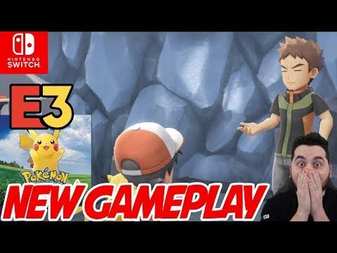 New Pokemon Gameplay! Pokemon E3 Full Presentation for Pokemon Let's Go Pikachu and Eevee!