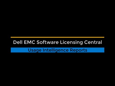 Software Licensing Central Usage Intelligence Reporting