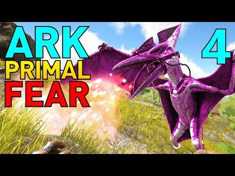 [4] Malin Pteranadon and Alpha Pheonix! (Let's Play ARK Primal Fear Multiplayer)