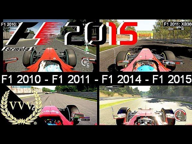 F1 2010 Vs F1 2011 Vs F1 2014 Vs F1 2015 Monza