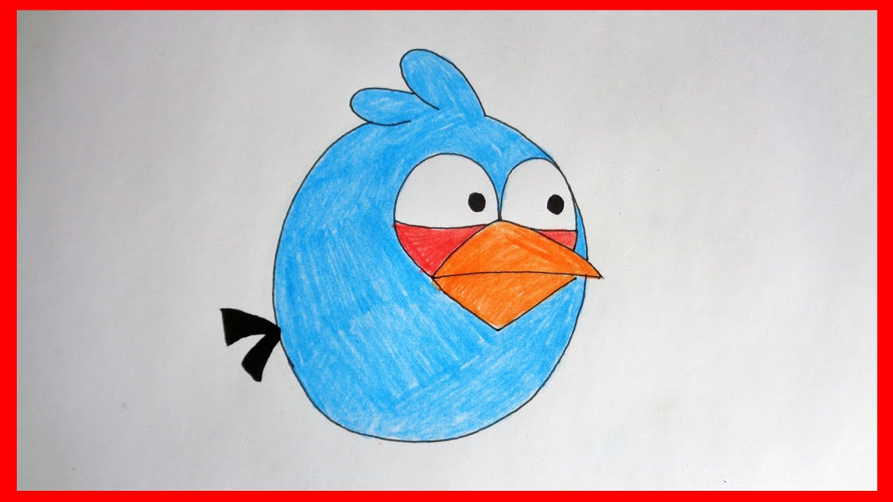 How To Draw Angry Birds Blue