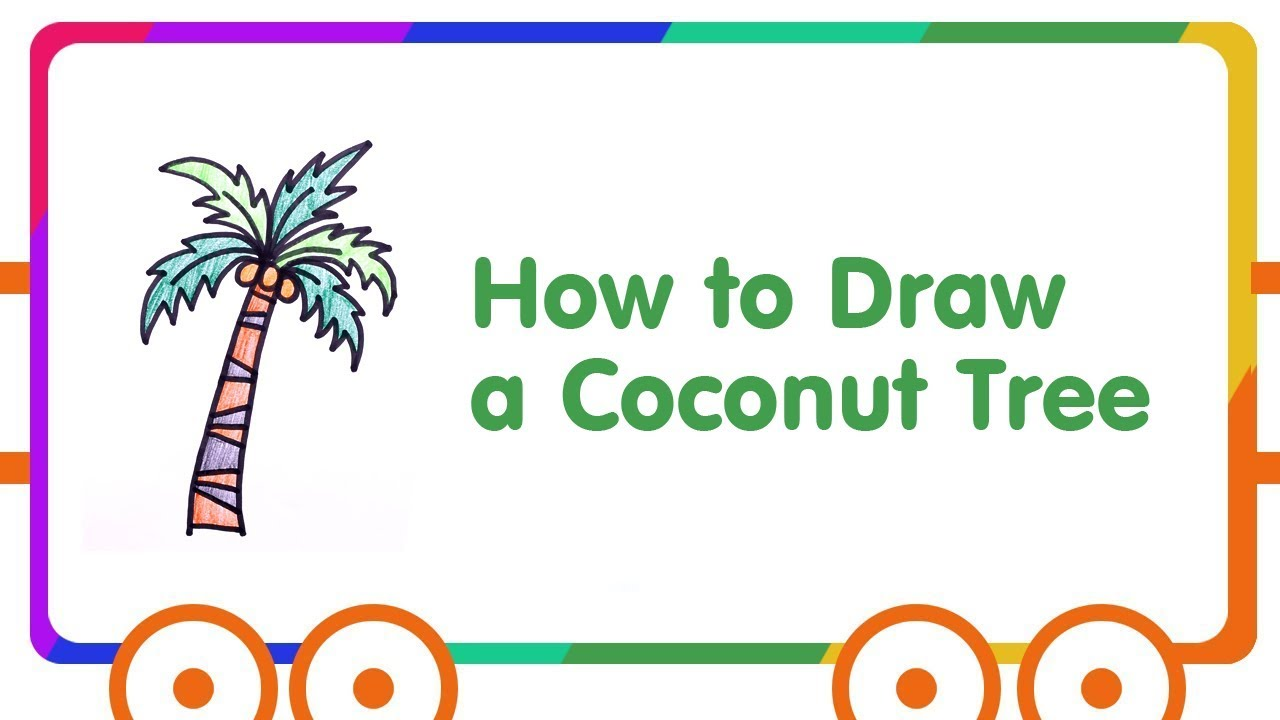 Coconut Tree Drawing for Kids - Step by Step - YouTube