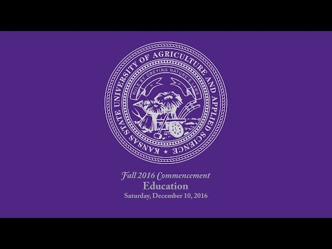 K-State Commencement - Fall 2016   Education