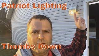 patriot lighting eloise motion lights suck