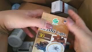 iHerb распаковка посылки. Псилиум, витамины, кофе.