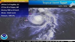 Tropical Storm Tapah (28/09Z) threatens Northern Mariana Islands