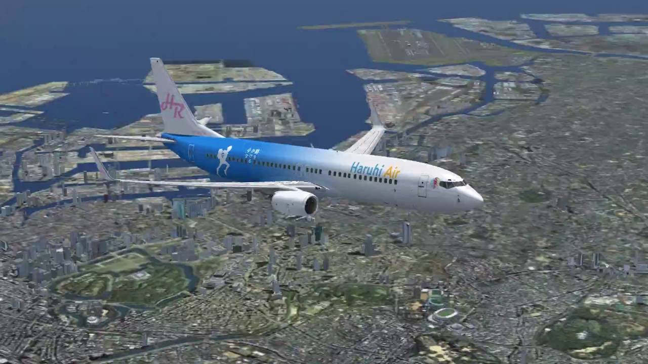 FSX] Haruhi Air B737-800 RJTT to RJNT - Time Lapse - YouTube