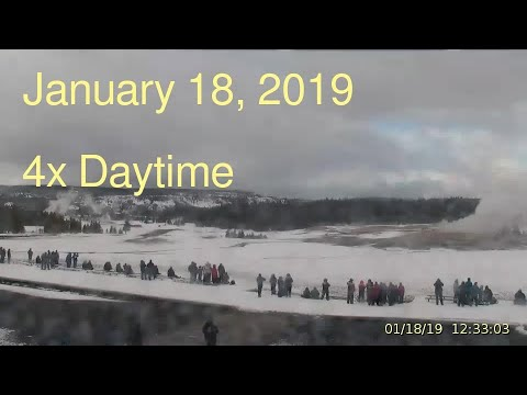 January 18, 2019 Upper Geyser Basin Daytime 4x Streaming Camera Captures
