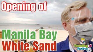 Opening of Manila Bay White Sand Beach Mayor Isko Moreno