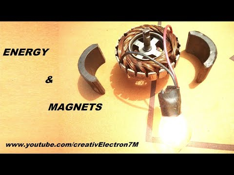 Free Energy light bulb generator from dual magnetic motors DIY