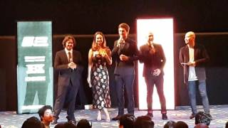 Baby Driver - Director & Cast [Edgar Wright, Ansel Elgort & Lily James]