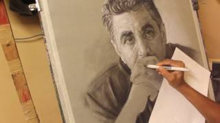 Portrait Drawing with Dry pastel pencil   charcoal pencil   Asim Chandro Roy