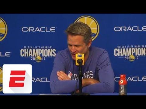 Steve Kerr on Draymond Green's technical fouls: 'Doesn't concern me at all' | ESPN