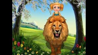 Учим диких животных - Лев - развивающие мультфильмы для детей про животных со стихами