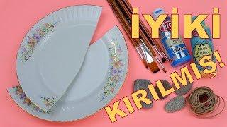 KIRIK TABAKTAN YAPTIM, RESMEN VURULDUM! (Tabaktan geri dönüşüm) / Recycling Of Broken Plate