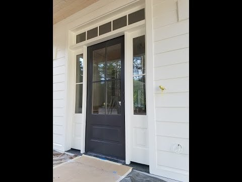 How to Spray Paint a Quality Finish on a Front Door. - YouTube