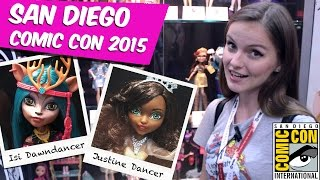 Обзор новинок Comic Con 2015 Isi Dawndancer и Justine Dancer (Monster High,Ever After High)