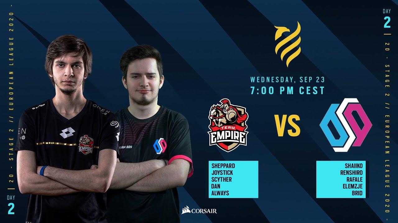 BDS Esport vs Team Empire // Rainbow Six European league 2020 - Stage 2 - Playday #2