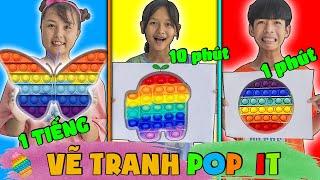 Thử Thách Vẽ Tranh Pop It 1 Phút, 10 Phút Vs 1 Tiếng ❤ KN CHENO Chị Hằng