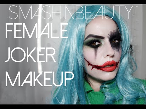Suicide Squad Sexy Female Joker Halloween Makeup Tutorial 2018