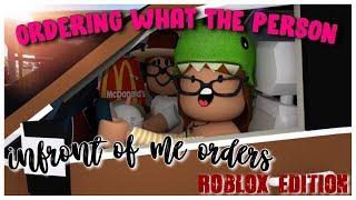 Bestellen, was die Person vor mir bestellt! -ROBLOX EDITION   Bloxburg