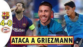 BARCELONA 4 – 0 PSV | RAMOS ATACA A GRIEZMANN | CRISTIANO DUDA DE SU HIJO ¿Qué DIJO?