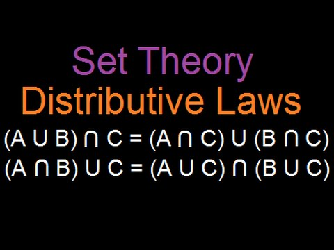 Set Theory : Distributive laws (Written Proof)