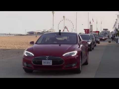 Tesla Boardwalk Parade in Ocean City, MD - @TeslaRoadTrip 2015 - Reach the Beach