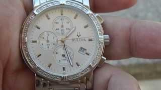 Relógio masculino Bulova 96E03 diamantes