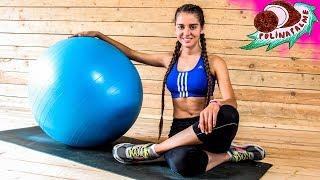 Упражнения для пресса с фитболом 🔴 Тренировка для пресса в домашних условиях 🌴 POLI NA PALME