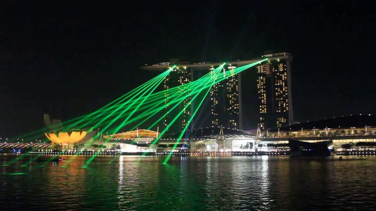 light show marina bay sands singapore youtube