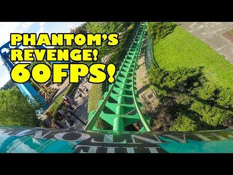 Phantom's Revenge Roller Coaster 60 FPS Front Seat POV Kennywood Amusement Park Pennsylvania