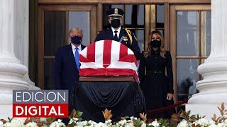 Una multitud abucheó a Trump cuando llegó a presentar sus respetos a la jueza Ruth Bader Ginsburg