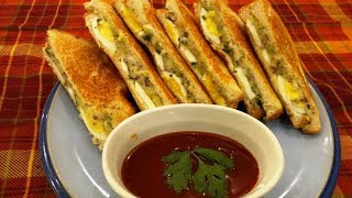 Quick and Easy Potato and Egg Butter Toast Sandwich | Recipe by Mother